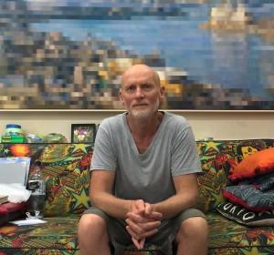 John Earle in his studio