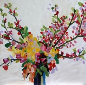 Autumn II by Helen McCullagh Oil on Board (60x60cm) $1200