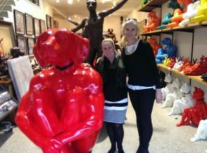 KAB Gallery Director In the Artist's Studio  with Gillie Schattner
