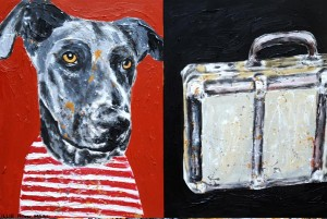 Pet Portraits by Gillie & Marc Dog with Suitcase