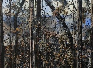 Patrick Carroll The Aftermath - Bushfire Series Acrylic on Paper SOLD