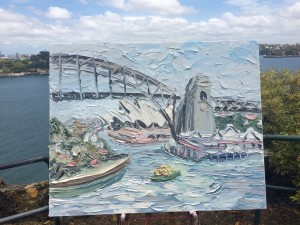 See this painting at KAB Gallerynow. The gallery is open 7 days on the beach front side of the Crowne Plaza Terrigal. Call 1300 78 7773 to speak to the KAB Team about making this great painting yours.