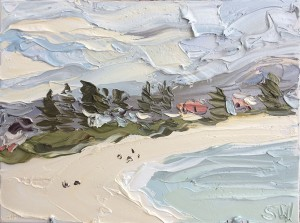 """Sally West  """"Wamberal"""" Oil on Canvas (30x40cm) $550"""