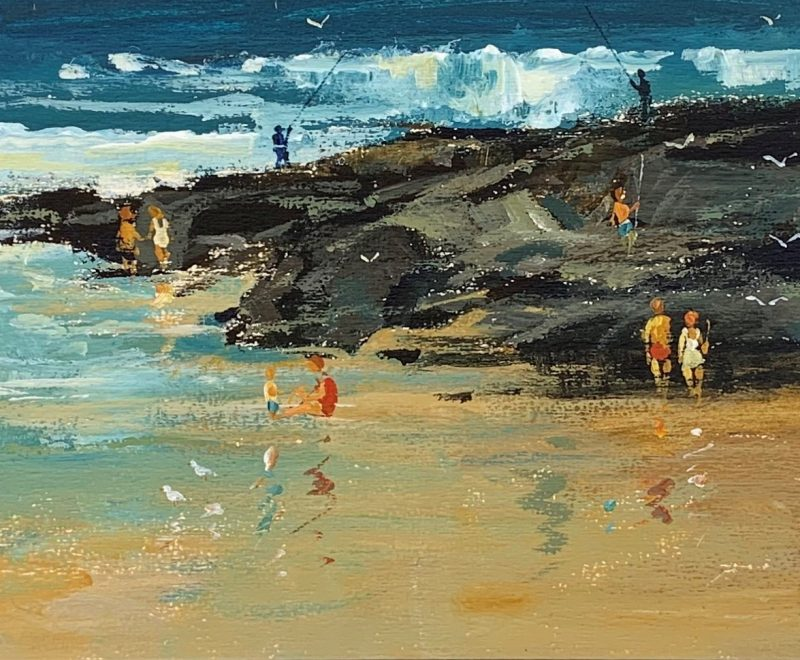A Day in the Sunshine - The Entrance NSW ( Patrick Carroll) - Available from KAB Gallery
