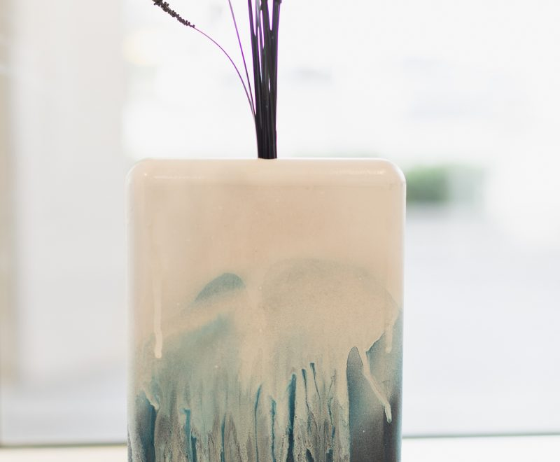 Sculptural Art Vase - Short Blue ( Penelope Oates) - Available from KAB Gallery