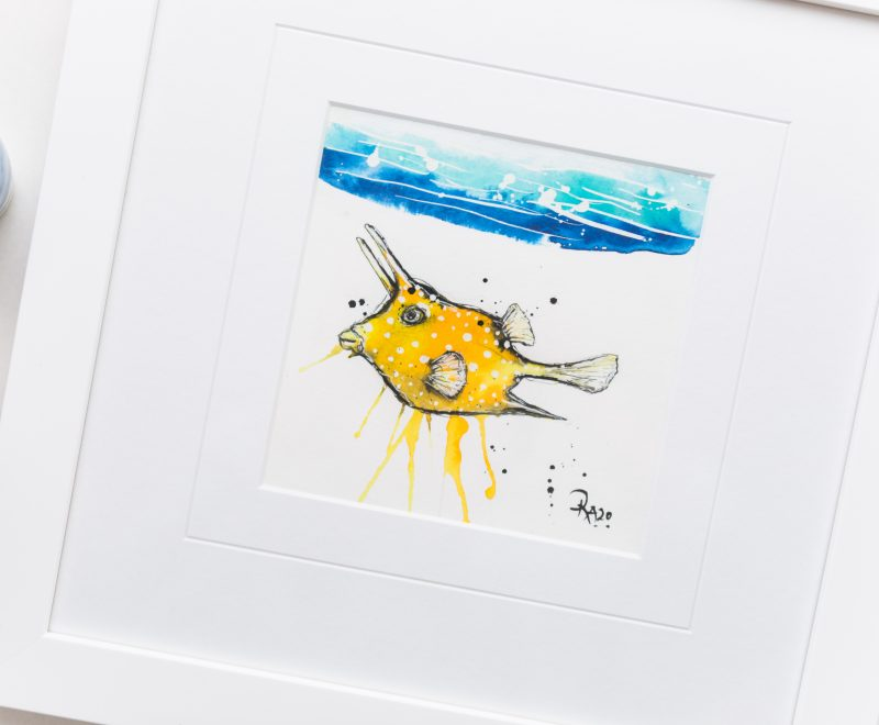 Dot - Long Horned Cowfish ( Kelly-Anne Love) - Available from KAB Gallery